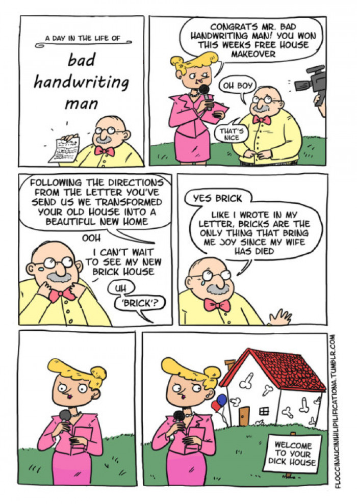 Bad Handwriting Man