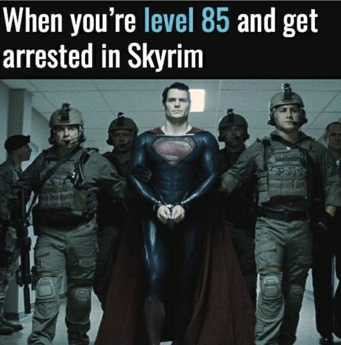 Getting Arrested In Skyrim