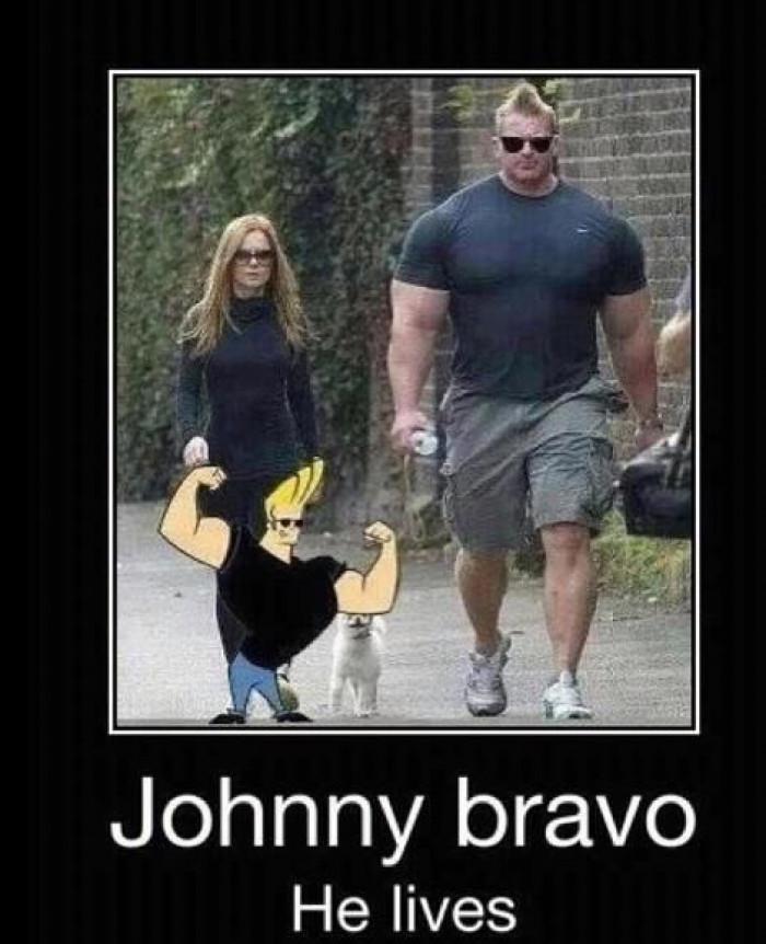 Johnny Bravo Is Walking