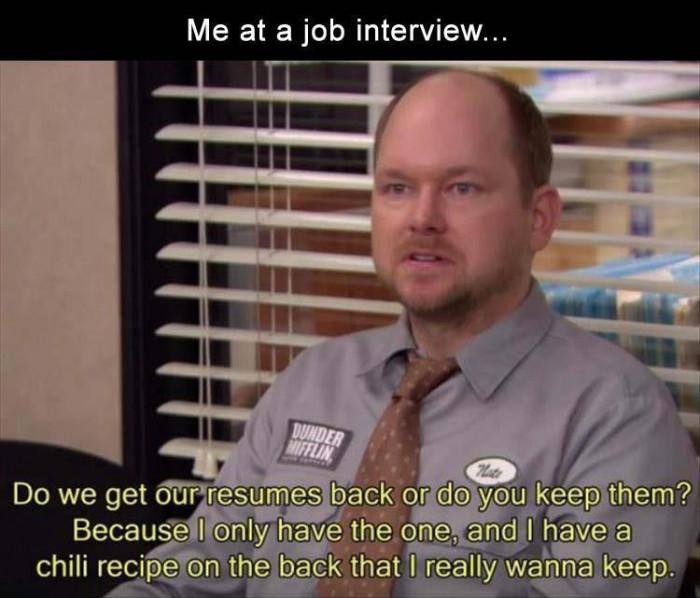 Me At A Job Interview