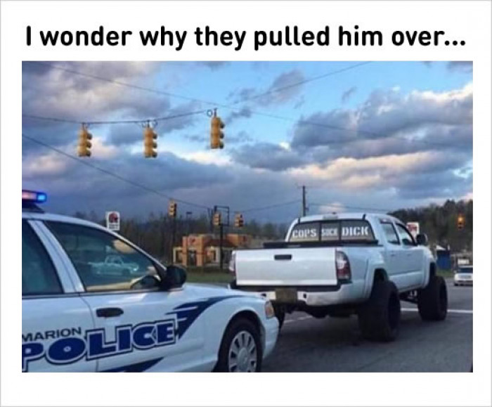 The Cops Pulled Him Over