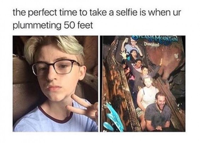The Perfect Time For Selfie