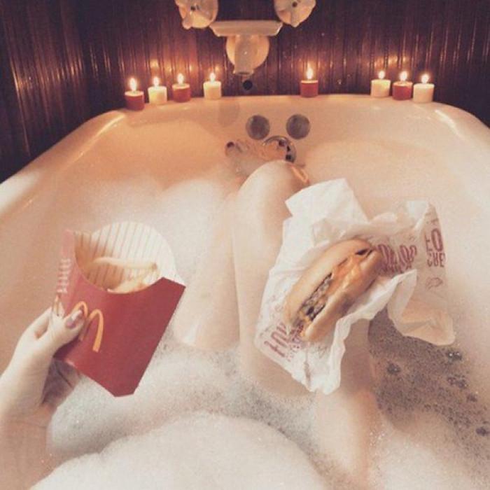 A Bubble Bath Does a Man Good