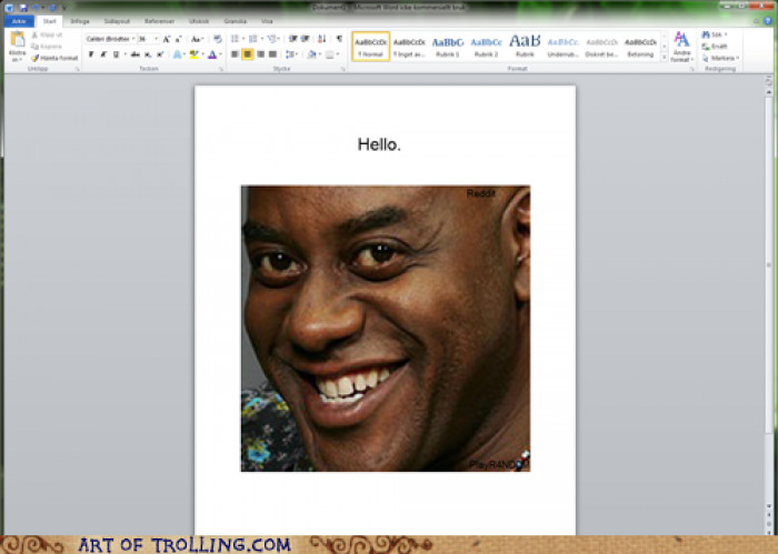 Just Sent This To My Neighbours Printer