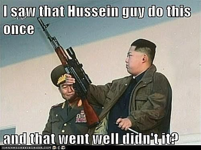 Kim Jong-Un Channels Saddam Hussein