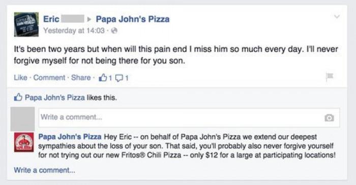 Our Deepest Dish Condolences