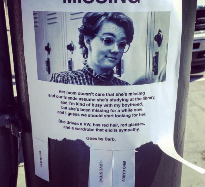 This Missing Poster For Poor Barb