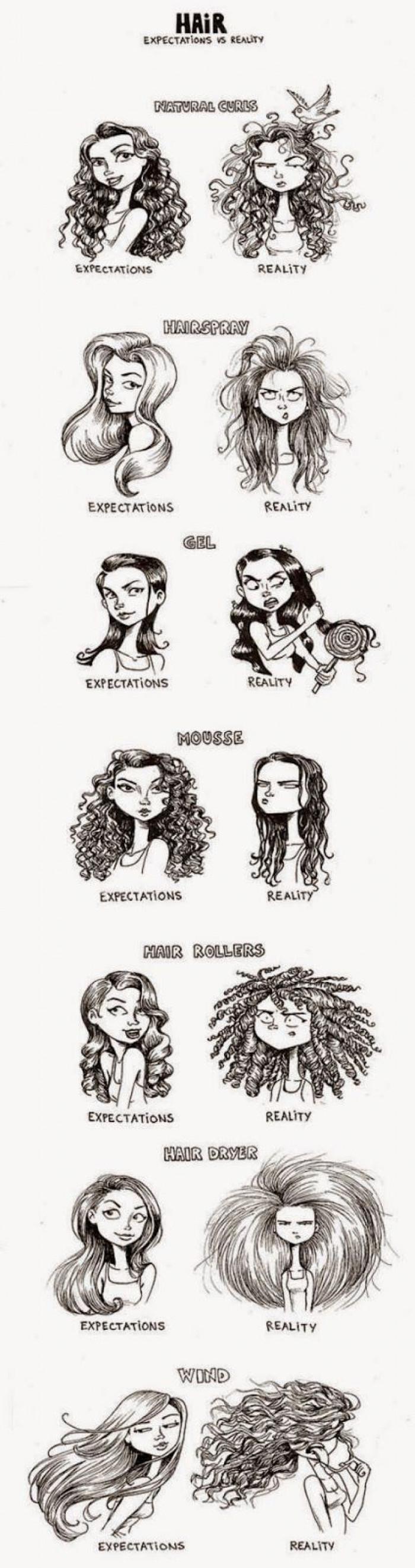Hair Expectation vs Reality