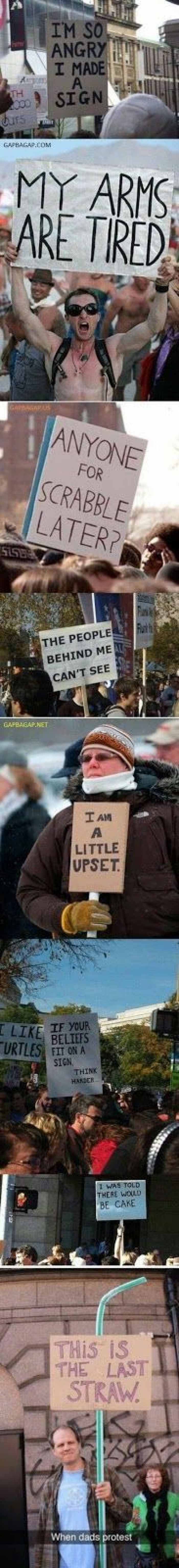 8 Funny Protest Signs... Wait For The Last One