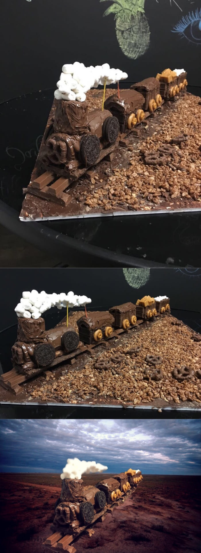 A Train Made Out Of Chocolate