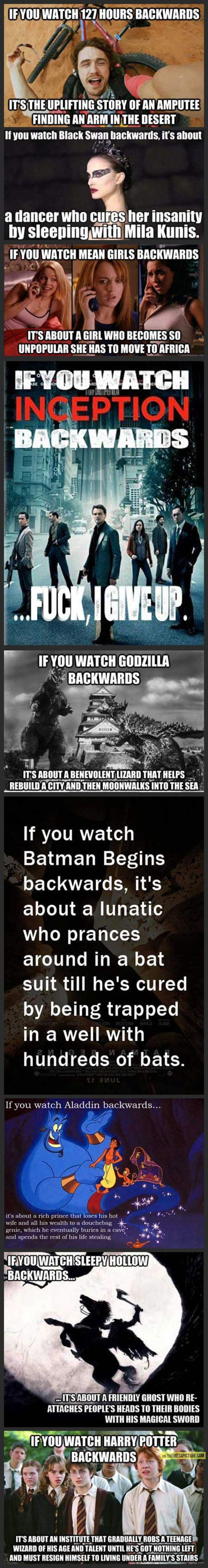 If You Watch These 9 Movies Backwards...