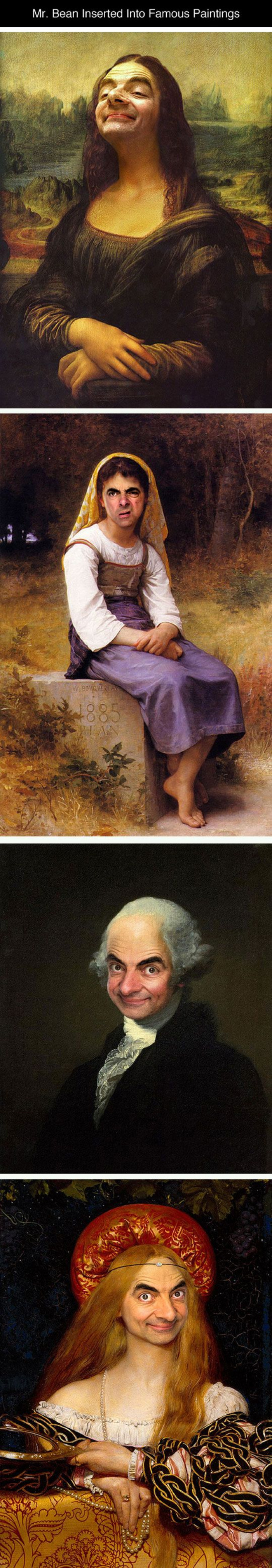 Mr. Bean Inserted Into Famous Paintings