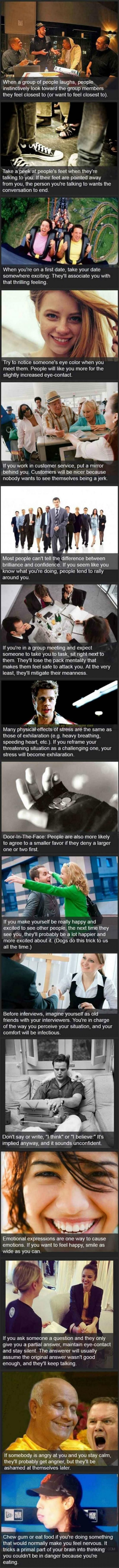 Psychological Tricks You Can Use On People Right Now