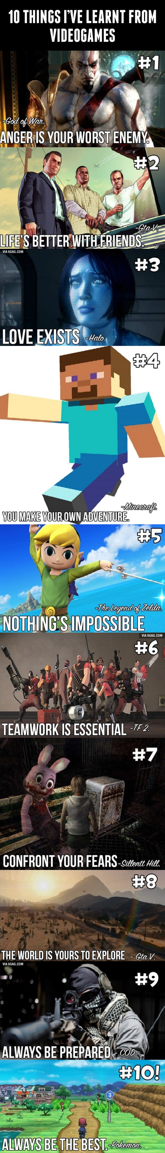 10 Things About Life You Will Learn In Video Games