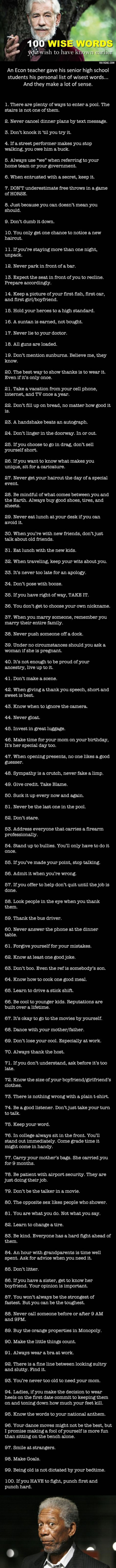 100 Wise Words of Advice You Wish You Knew Earlier
