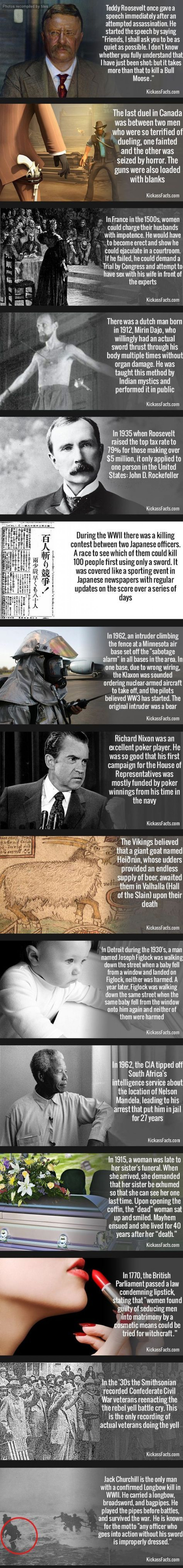 15 Strange History Facts That Will Probably Startle You