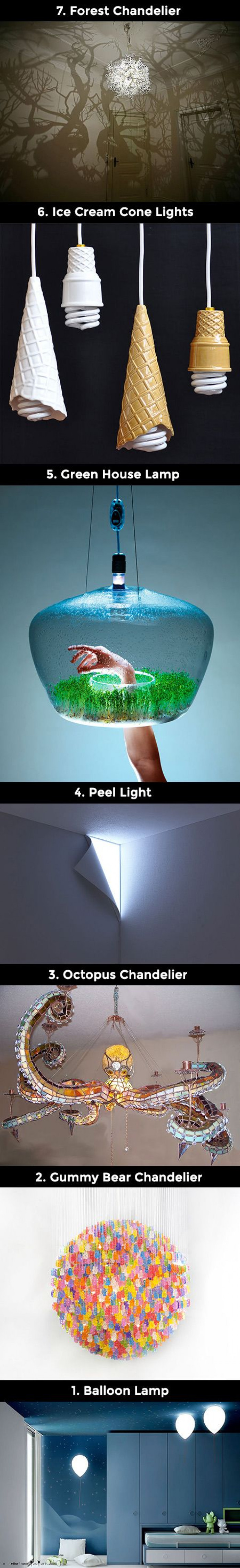 7 Ultra Creative Lamps and Lights That Geeks Would Love