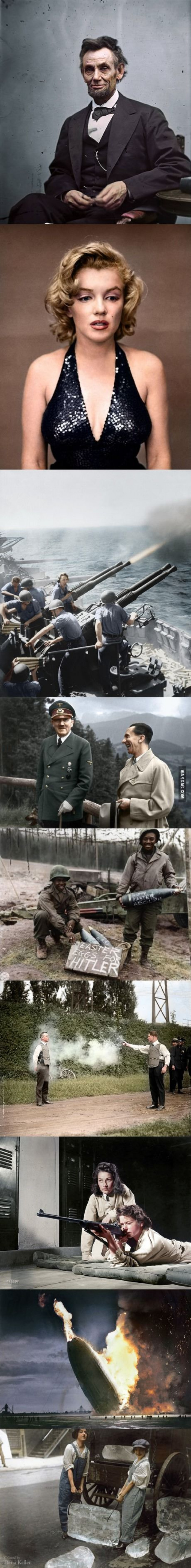 9 Historical Photographs Colorized To Show How They Would Look In Color