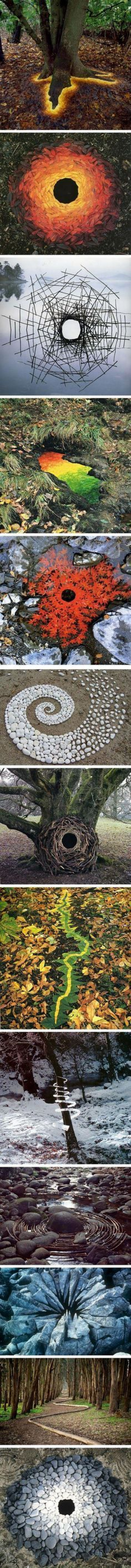 An Artist Uses Nature To Create Some Amazing Land Art