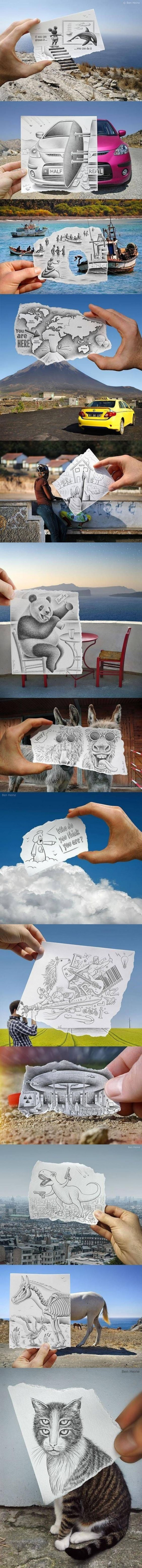 Artist Combines Drawings And Real Life To Make You Chuckle