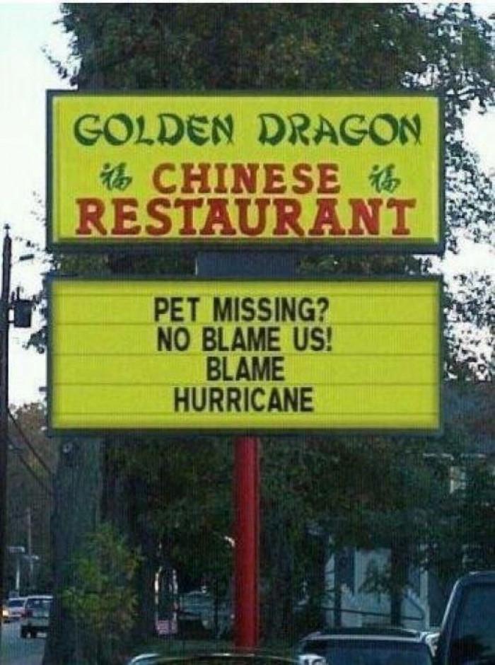 blame hurricane