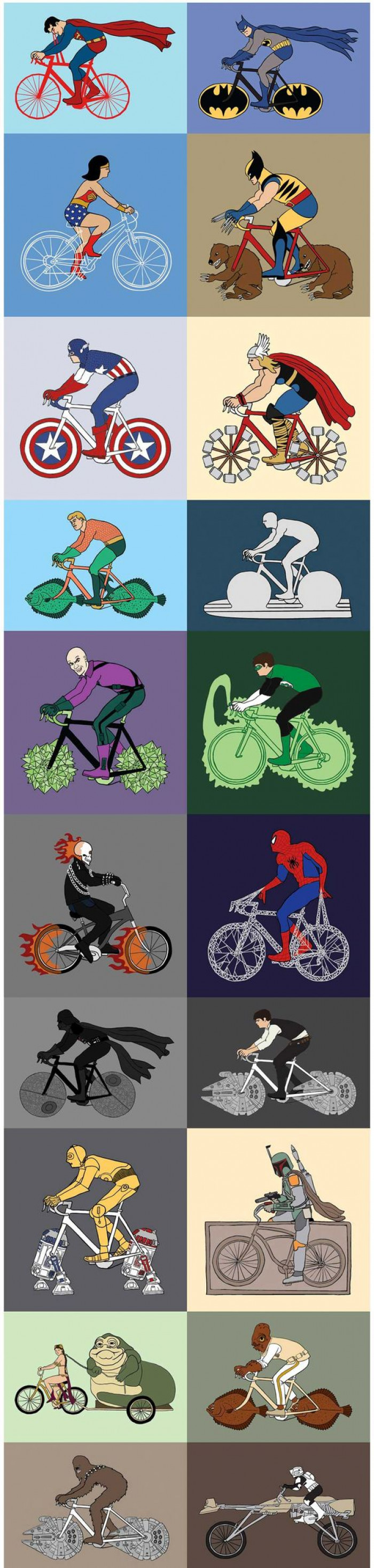Cool Drawings Of Superheroes And Their Bikes That Will Make You LOL