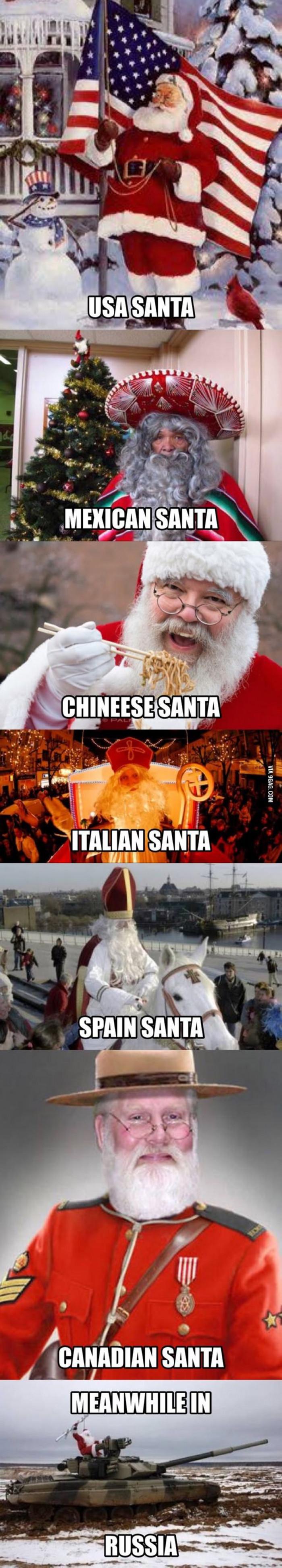 Different Kinds Of Santas