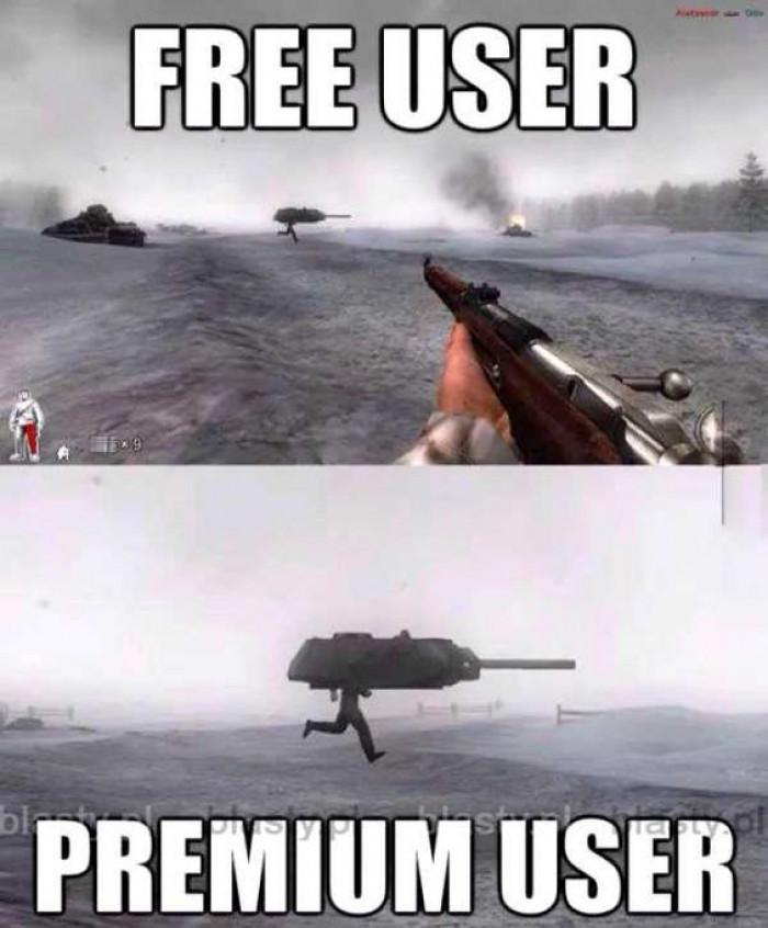 Free+user+vs+premium+user
