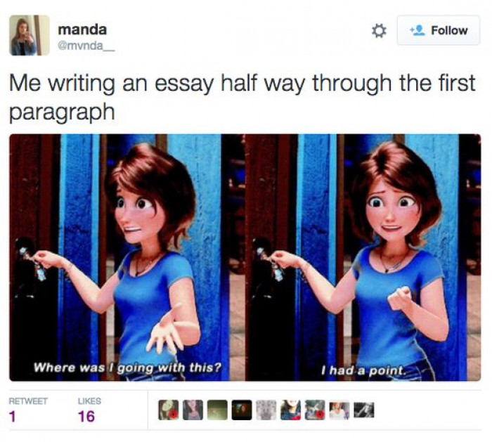 Me Writing An Essay