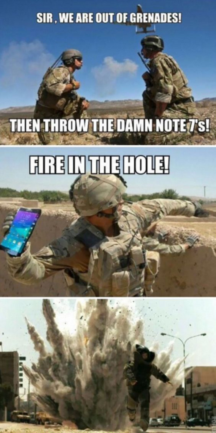 Mocking The Samsung Galaxy Note 7