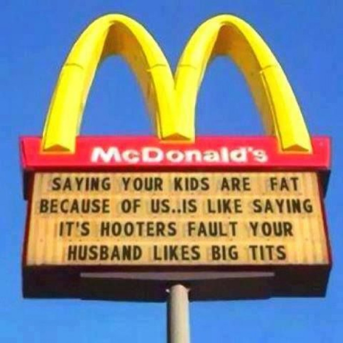 Saying your kids are fat...