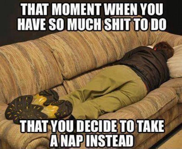 Take a nap instead