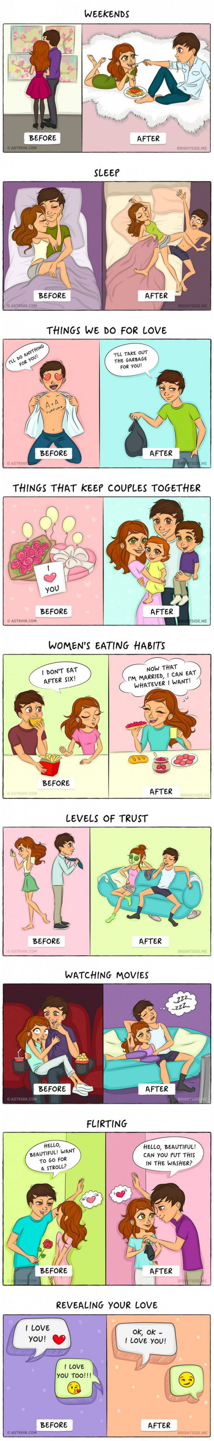 This Comic About Life Before And After Marriage Will Open Your Eyes
