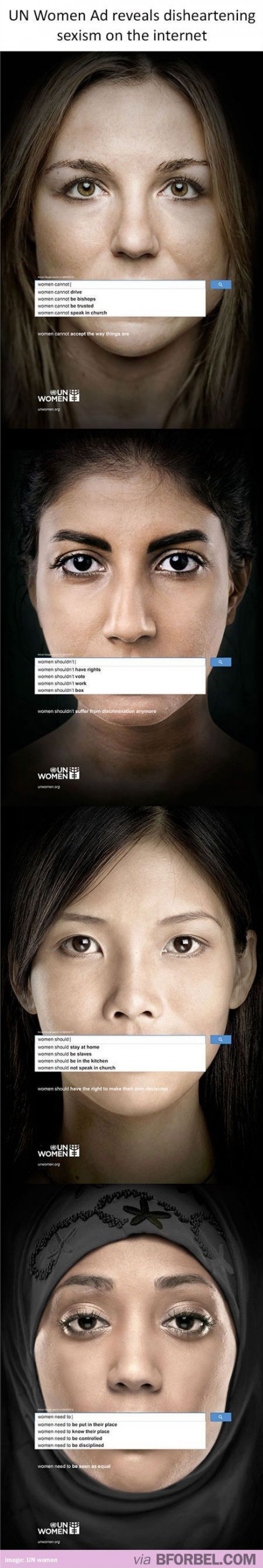 UN Ad Reveals Disheartening Sexism On The Internet