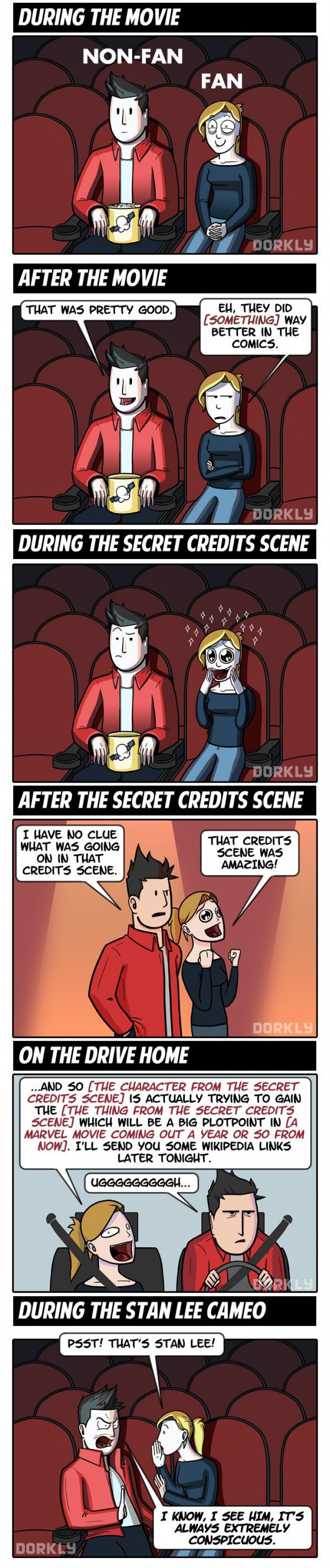 What It's Like To See A Marvel Movie For Fans And Non-fans