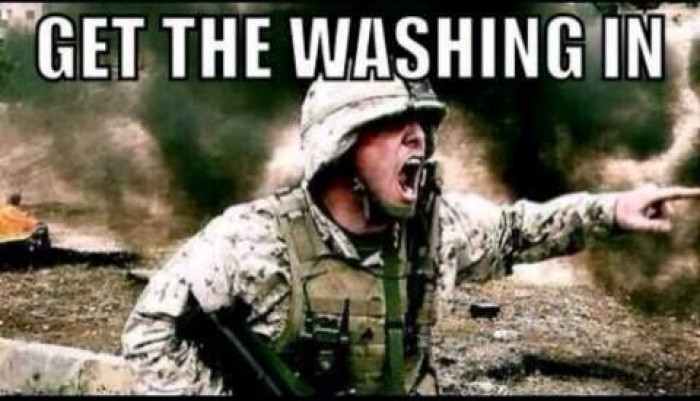 When It Starts To Rain But Your Washing Is On The Line