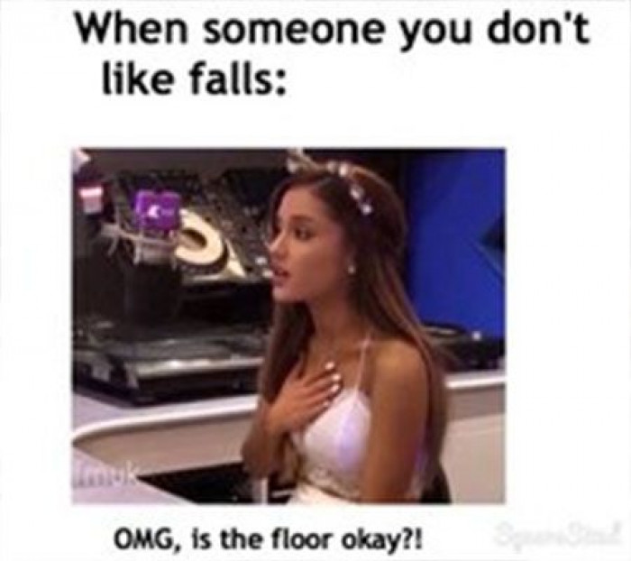 When someone you don't like falls - LadBlab