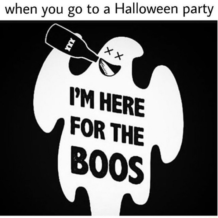 When You Go To a Halloween Party