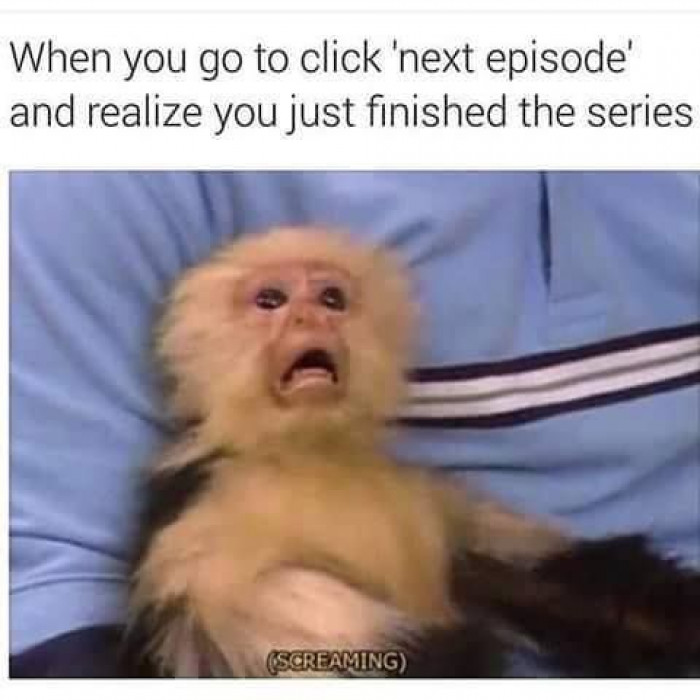 When you go to click next episode and realize you just finished the series