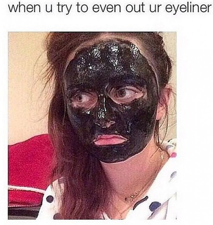 When You Try To Even Out Your Eyeliner