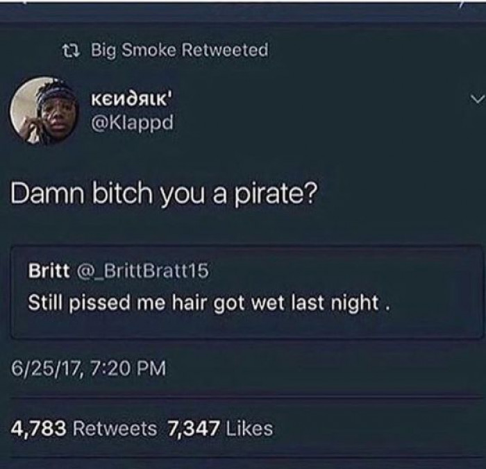 you a pirate?