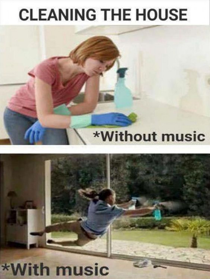 Cleaning The House With And Without Music