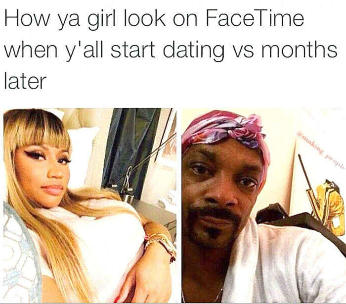 Facetiming Then Vs Now