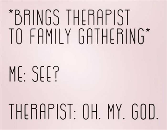 Showing My Therapist My Family