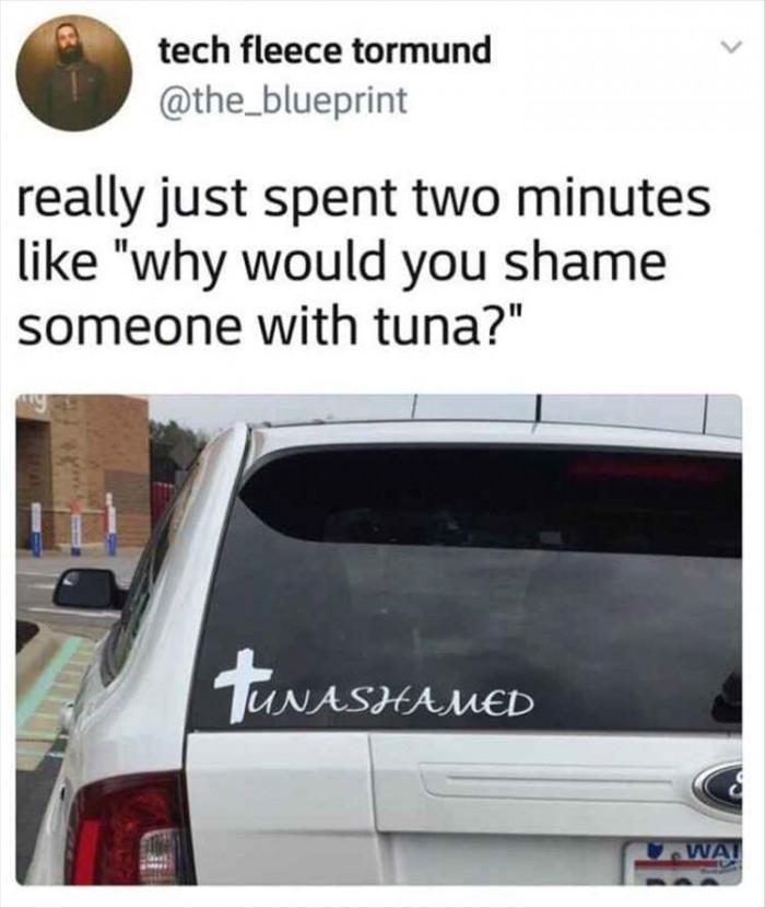 Why Shame Tuna?