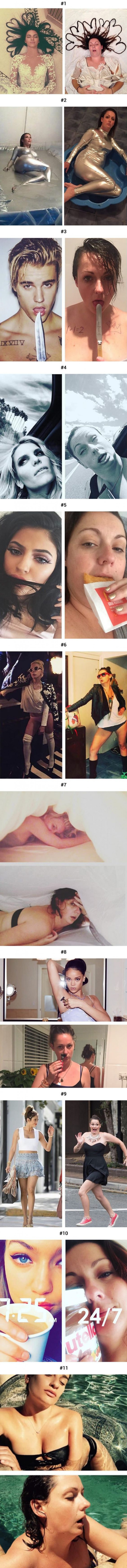 Women Mocks Celebs Instagram Posts