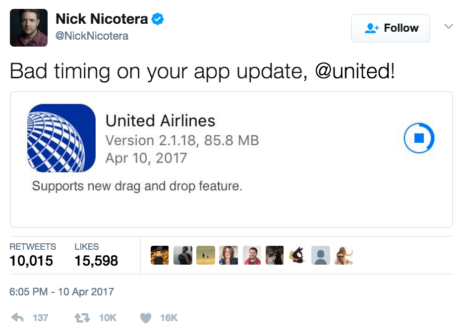This Is Pure Gold, United Airlines App Update