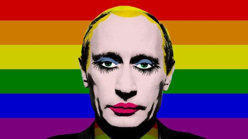 This image of Putin is illegal in Russia