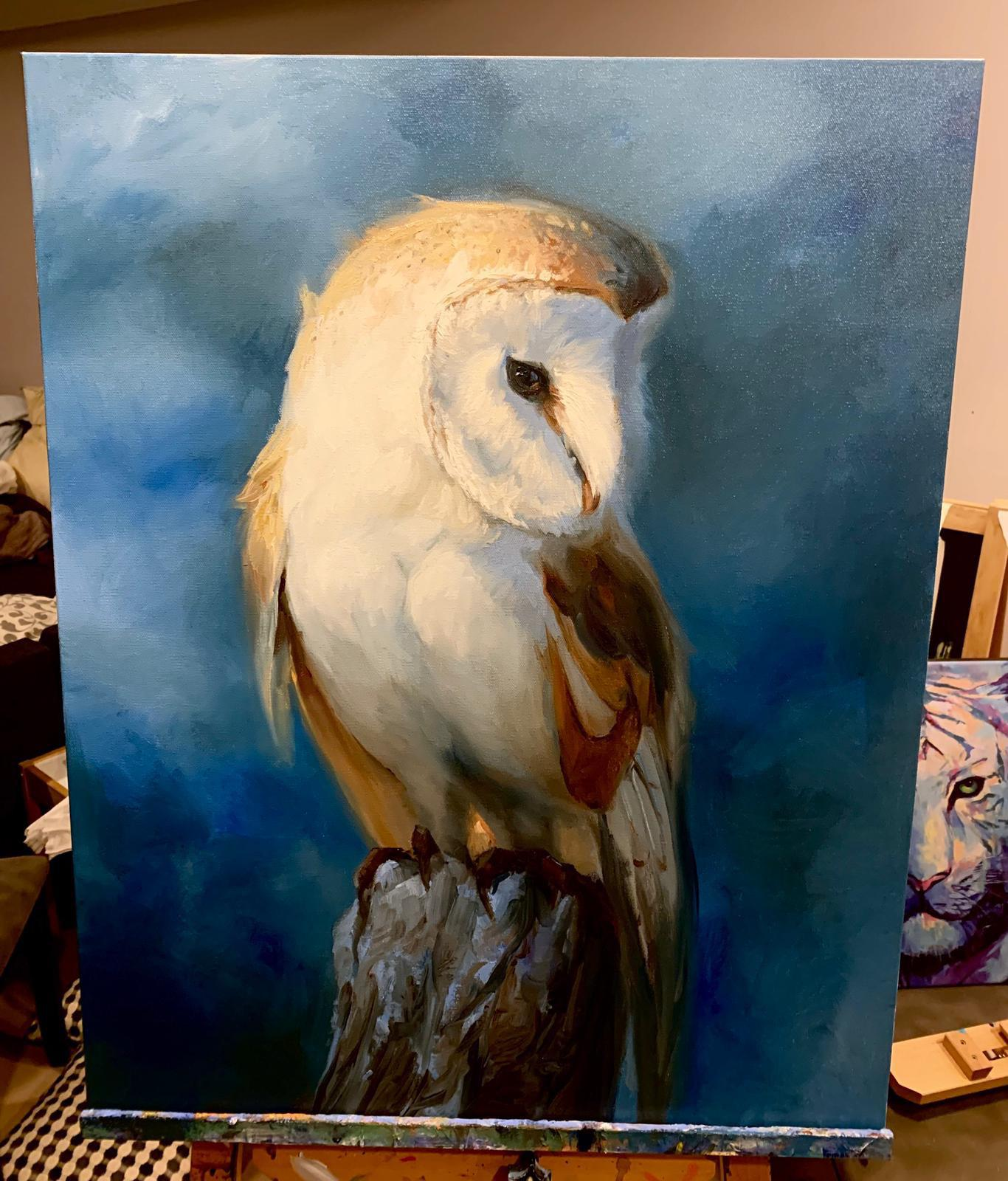 Barn Owl I just finished painting