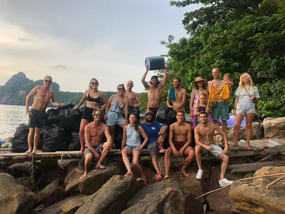 Cleaned up 89kg of trash in Koh Phi Phi Thailand, a beautiful island with serious waste handling challenges #Trashtag